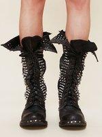 Супер Кружево до Пояса из натуральной кожи выше колена ботфорты до середины бедра черного цвета Ковбойские сапоги для женщин с заклепками;