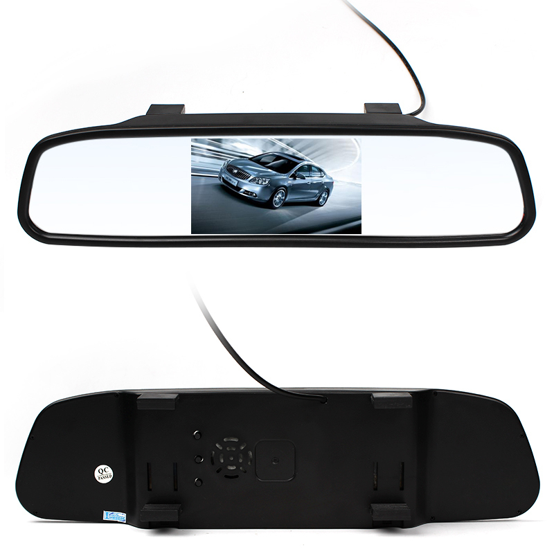 Di alta Qualità 4.3 pollice Monitor Dell'automobile LED Rear View Mirror Monitor Video Camera Auto di Assistenza Al Parcheggio LED Night Vision Telecamera di Retromarcia