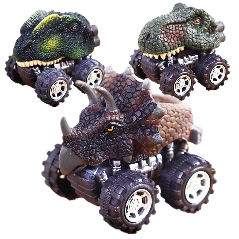 2018Hot Sale Dinosaur Models Mini Toy Pull Back Collection Car Kid Funny Non Remote Control Toys Creative Children Birthday Gift