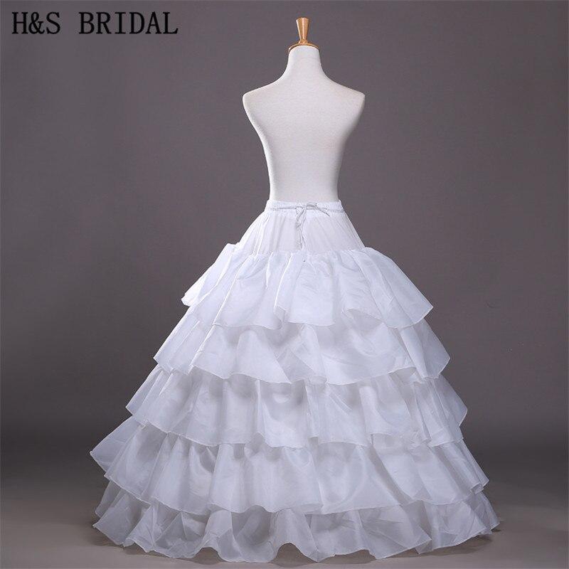 2015 Free Hot Sale Cheap Ball Gown 4-Hoops 5-Layers Wedding Petticoat Slip Underskirt Crinoline For Wedding Dresses