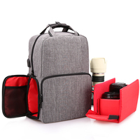 Waterproof Digital DSLR Photo Padded Backpack Rain Cover Laptop Multi functional Camera USB Charging Backpack For Canon Nikon