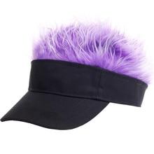91bc85875cd12 SUOGRY Camo Baseball Cap Fake Flair Sun Visor Hats Kids Toupee Wig Funny  Hair Loss
