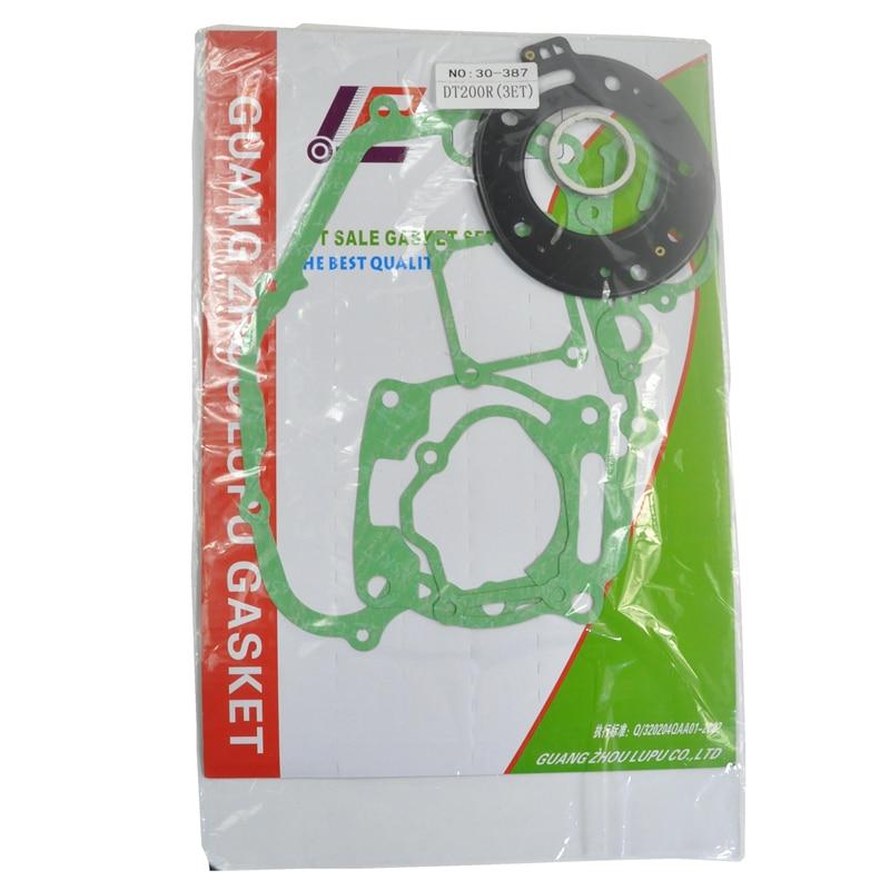 Motorcycle Engine Gasket Kits For Yamaha DT200 DT200R 3ET Cylinder Crankcase Cover Top End Complete Gasket Set