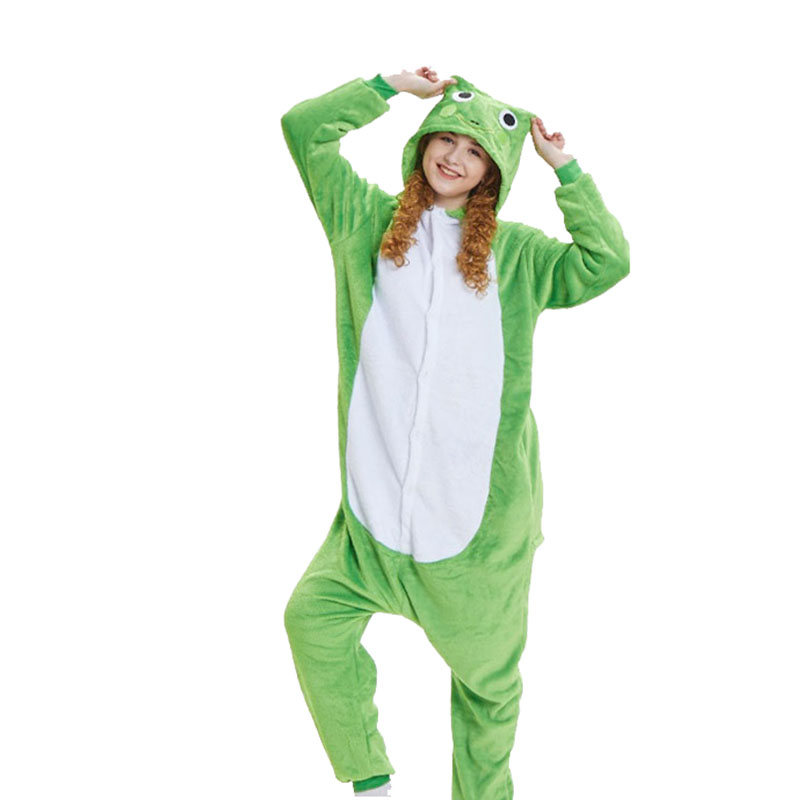 0cc26fb5675c Soft Green Frog Kigurumi For Adult Animal Onesie Men Jumpsuit Carnival  Pajamas For Women Suit Sleepwear Halloween Cosplay Party