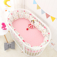 5 Piece Ellipse Baby Bedding Sets Crib Bumpers Bed Around Cot Bed Sheets Cotton Thickening Baby Beddings Bed Bumper Room Decor