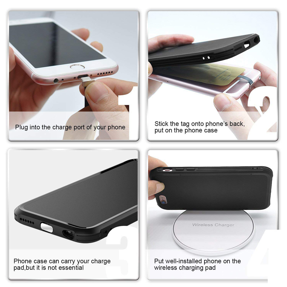 US $4 83  QI Receiver Type A For Samsung Galaxy J7 J3 J6 S5 J8 LG V10 Stylo  2 3 4 Plus Honor P9 P10 7X Wireless Charging Receiver Adapter-in Wireless