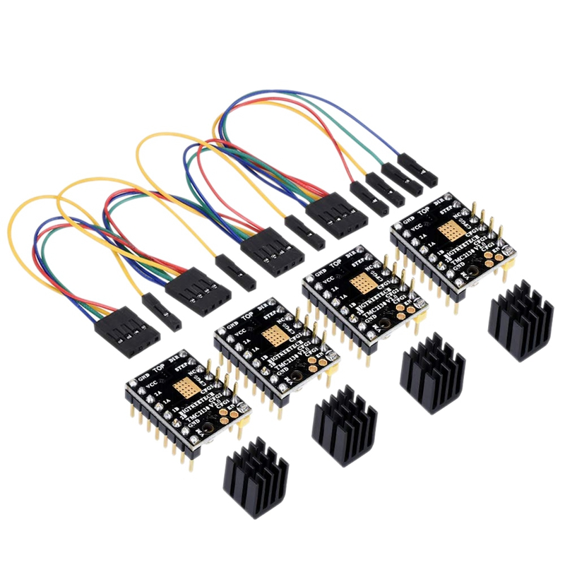 3D Printer Part Tmc2130 V2.0 Spi Motor Driver With Heat Sink And Use Gold Deposition Technology Pcb Board Suitable For Mks Gen3D Printer Part Tmc2130 V2.0 Spi Motor Driver With Heat Sink And Use Gold Deposition Technology Pcb Board Suitable For Mks Gen