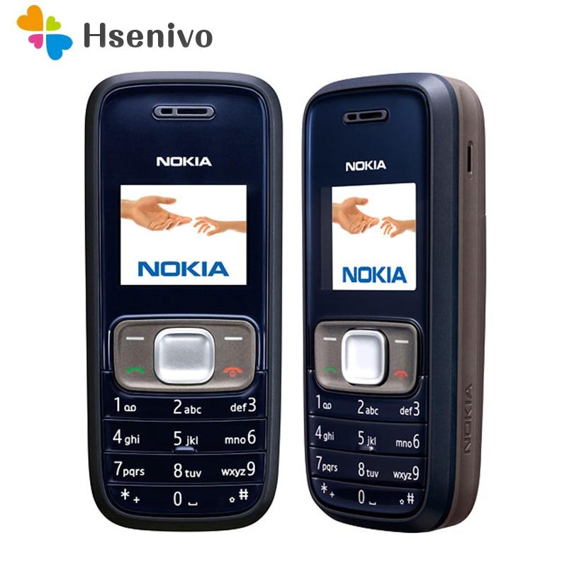 1209 Original Cellular Nokia 1209 Cheap phones GSM unlocked phone refurbished Free shipping