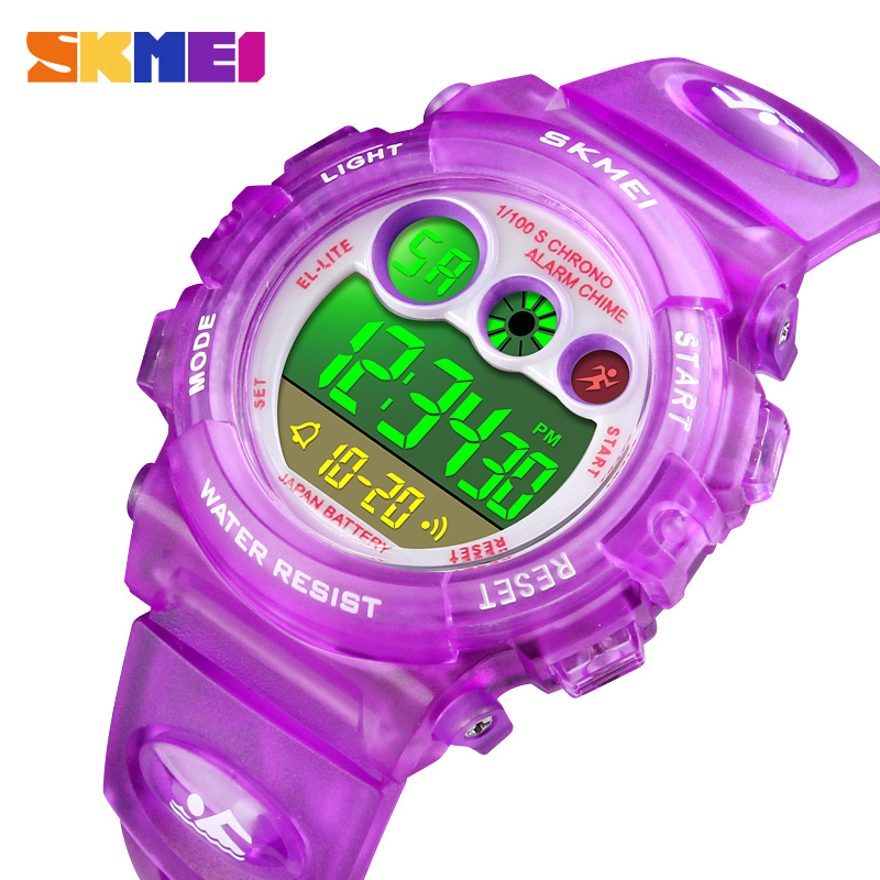 Spots Watches For Kids Children Boy Girl Watch Digital LED Watches Alarm Date Sports Electronic Wristwatches SKMEI 2018