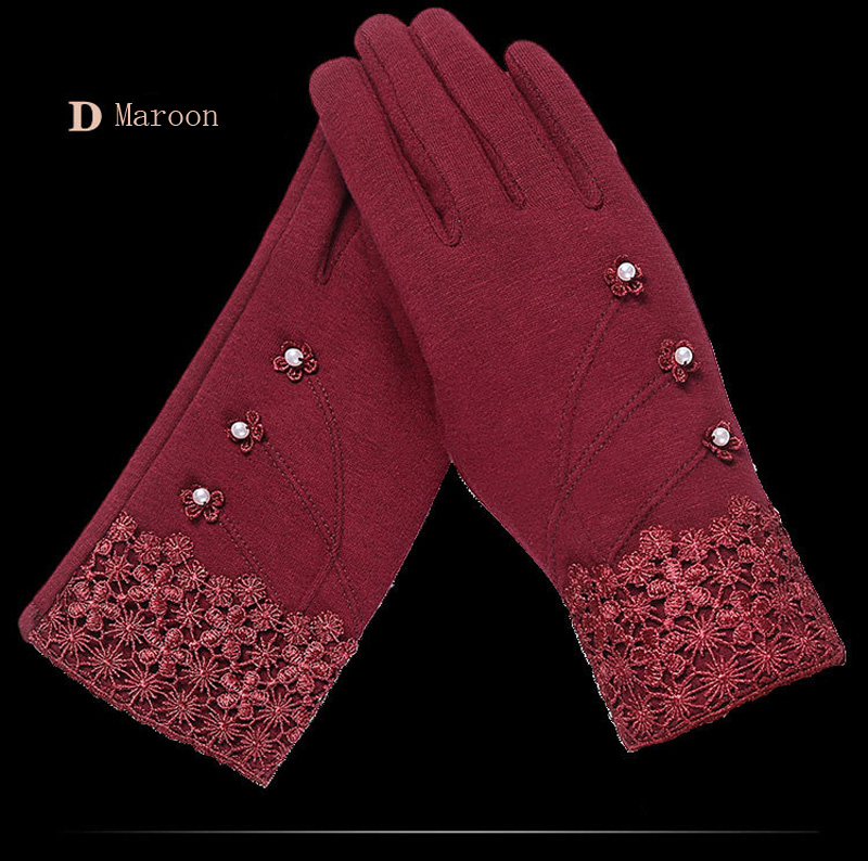 NIUPOZ Fashionable and Elegant Women Touch Screen Gloves for Winter made of Non Inverted Velvet to Keep Hands Warm 13