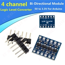 5pcs/lot 4 channel IIC I2C Logic Level Converter Bi-Directional Module 5V to 3.3V For Arduino