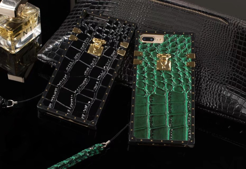 JCOVRNI Crocodile pattern TPU luxury leather for iPhone7 8 Mobile phone cover for iPhoneXR XS 8 plus phone case with lanyard in Fitted Cases from Cellphones Telecommunications