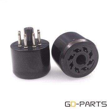 GD-PARTS 8pin Bakelite Testing Save Tube Sockets for KT88 EL34 6550 6SN7 5881 CV181 6SL7 KT66 5AR4 6CA7 Vintage AMP DIY 1PC фото