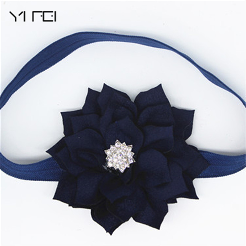YIFEI Girls Headwear Hair Band Head Accessories girls  Kids Children Fashion Hot Baby Lotus diamond Flowers Fringed Headband bebe girls flower headband four felt rose flowers head band elastic hairbands rainbow headwear hair accessories