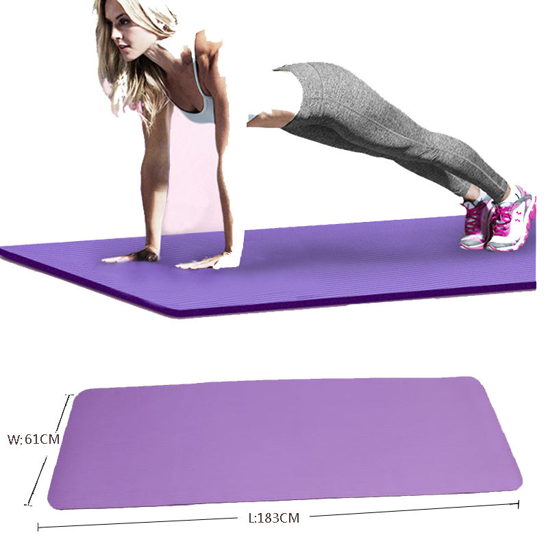 10mm Yoga Mat Exercise Thick Non Slip Gym Fitness Durable