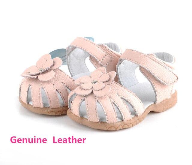 Детские первые ходоки для девочек, Маленький ребенок из натуральной кожи, Детская обувь мягкий кожаный ремешок с colosed обувь для девочек
