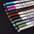 Bricolaje lindo agua tiza Pen acuarela pluma de Gel negro de marcador para boda foto álbum Scrapbooking 1408