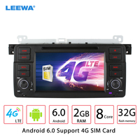 LEEWA 7 Android 6.0 (64bit) DDR3 2G/32G/4G Car DVD GPS Radio Head Unit For BMW 3 Series MG ZT/Rover 75/For BMW 3 Series E46/M3