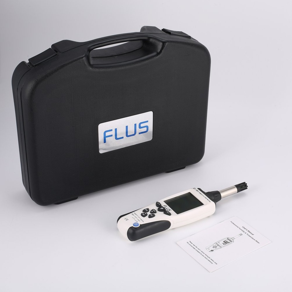 FLUS ET-951 Handheld Digital Humidity Tester Temperature Meter Monitor LCD Display Multifunction Hygrometer Thermometer