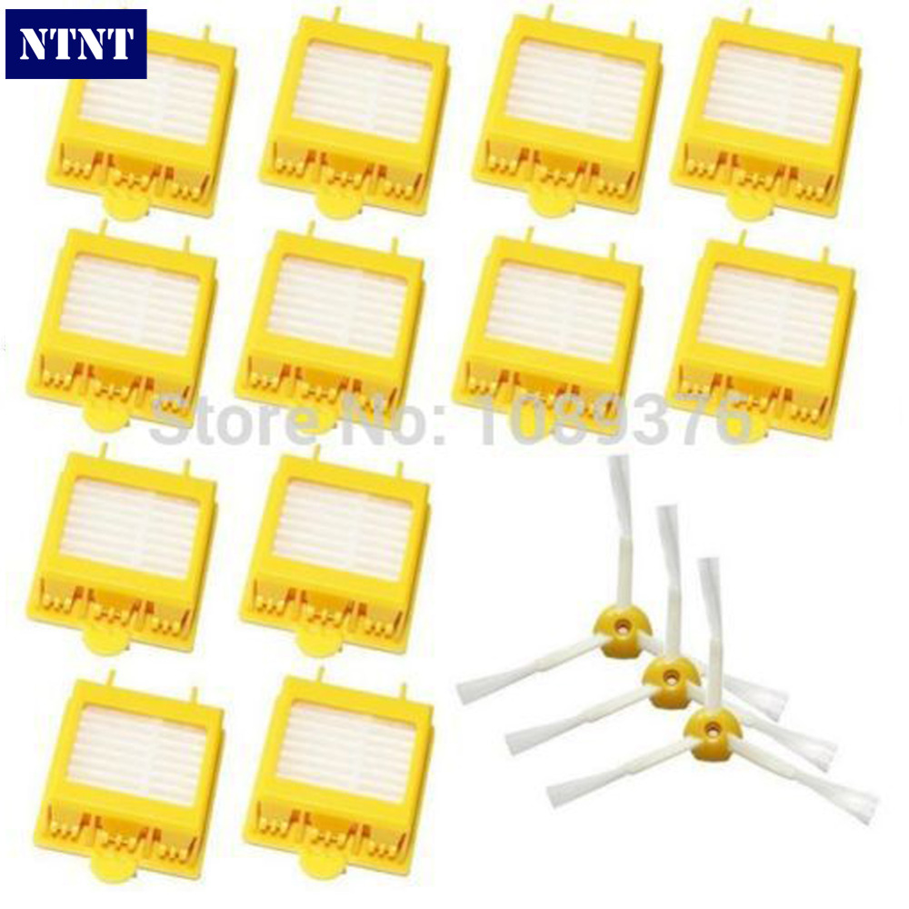 NTNT Free Post New 3-Armed Side Brushes & 12 HEPA Filters for iRobot Roomba 700 Series 760 770 780 ntnt free post new 1pcs for dyson extra