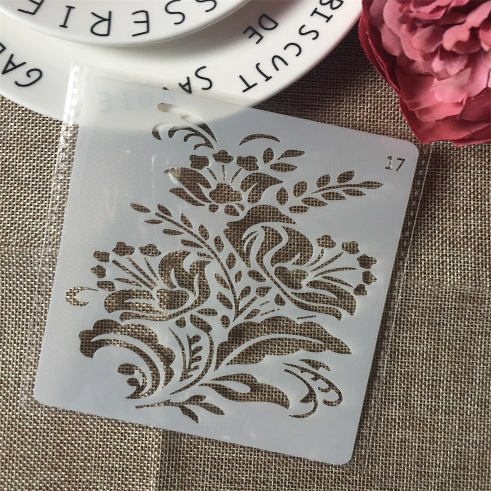 1Pcs 13cm Flower DIY Layering Stencils Wall Painting Scrapbook Coloring Embossing Album Decorative Card Template