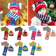 Tide of new winter hat, cap, robot cap (scarf + HAT), two piece, 7 color Keep warm, fashion