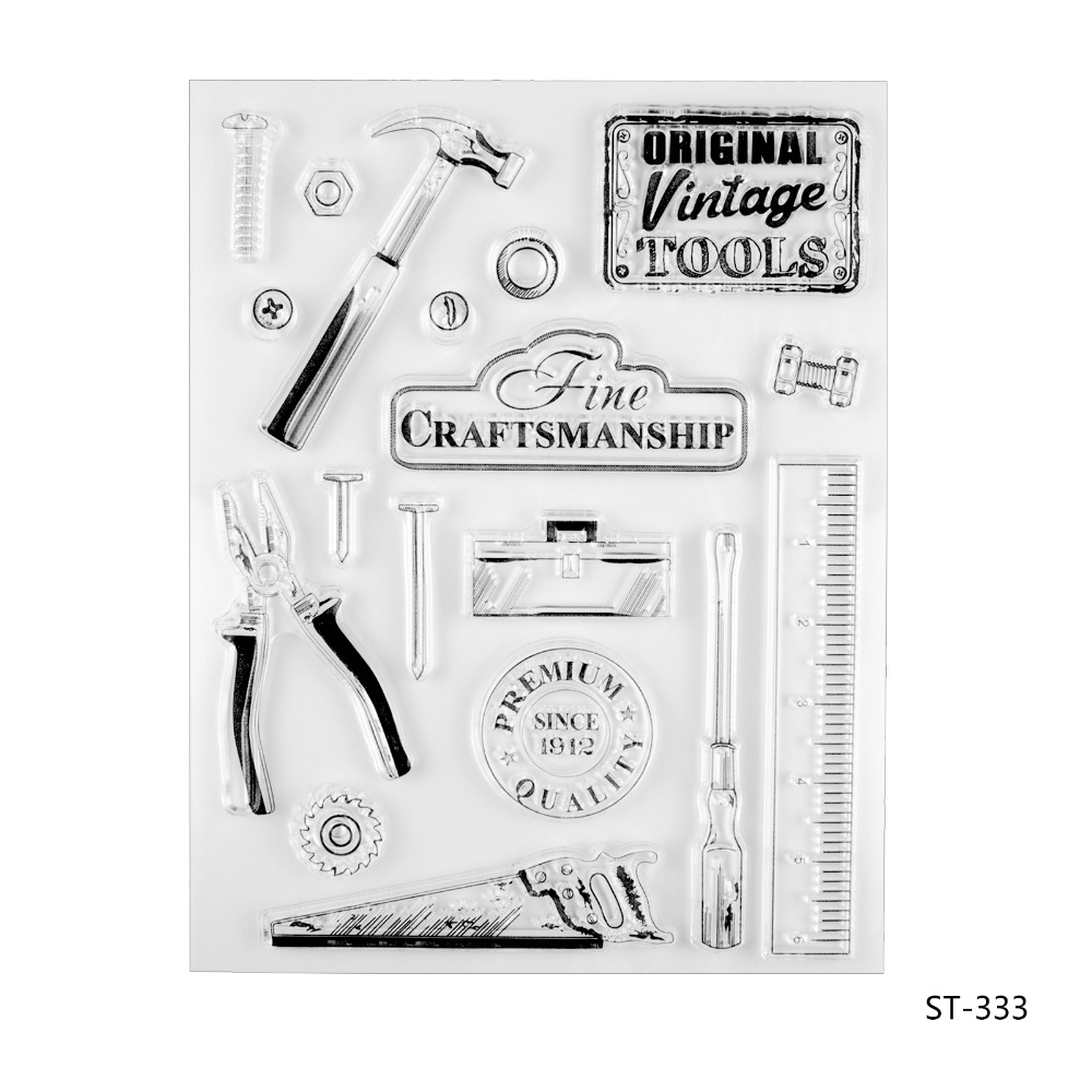 Vintage Tools Transparent Clear Silicone Stamp/seal for DIY Scrapbooking/photo Album Decorative Clear Stamp Sheets. lovely animals and ballon design transparent clear silicone stamp for diy scrapbooking photo album clear stamp cl 278
