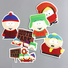 6 Pcs/lot American Drama South Park Funny Sticker Decal For Car Laptop Bicycle Notebook Backpack Waterproof Home Decor Stickers