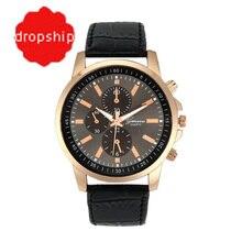 Splendid Fshion Reloje Casual font b Watches b font Female Geneva Faux Leather Quartz Analog Wrist