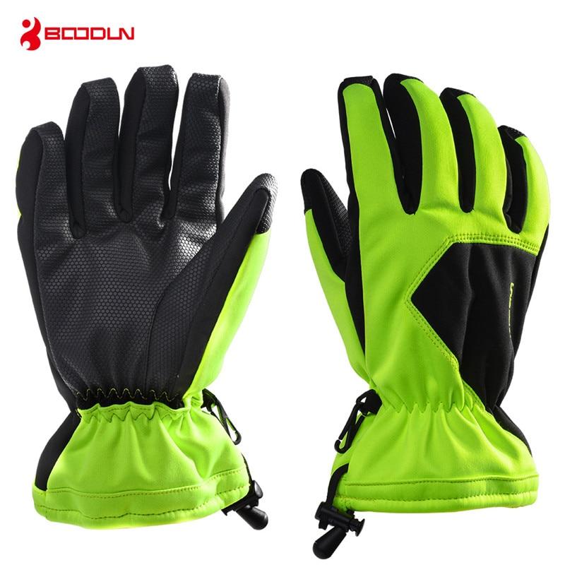 Boodun 5 Colors Men Women Snowboard Gloves Thicken Warm Waterproof Ski Skiing Gloves Touch Screen Winter Outdoor Snow Gloves
