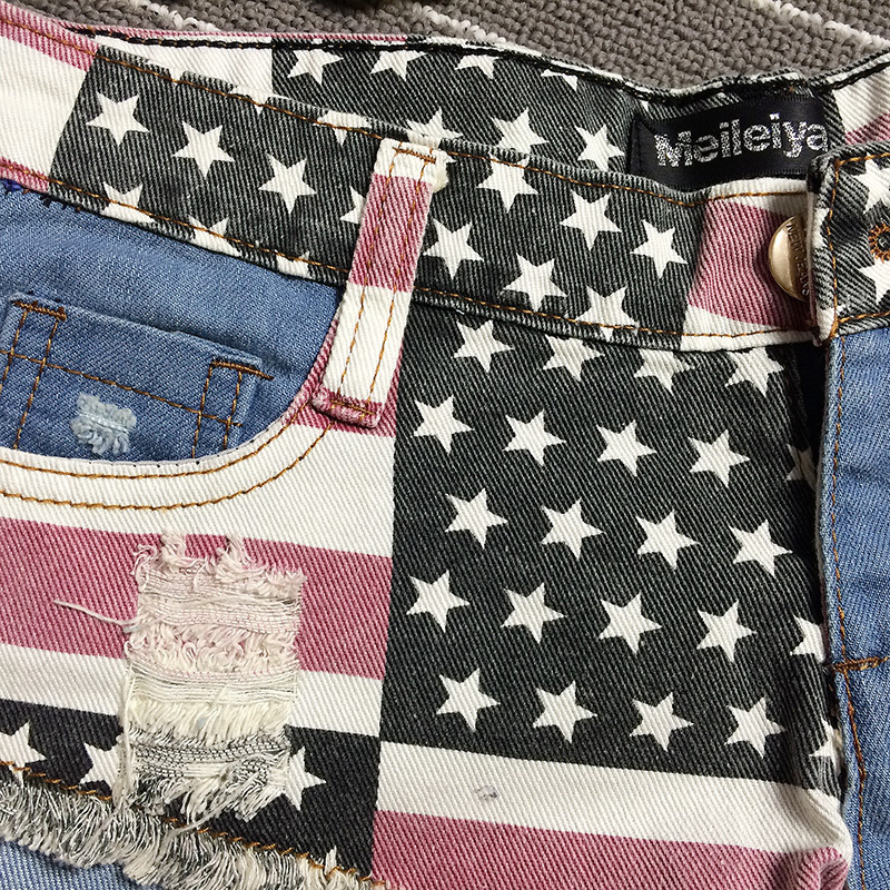 New Fashion Hot Women s Short Jeans Womens Denim Shorts Women American Flag  Shorts Jeans for Women Sexy Low waisted Shorts XXL-in Shorts from Women s  ... 6a6716f8f8