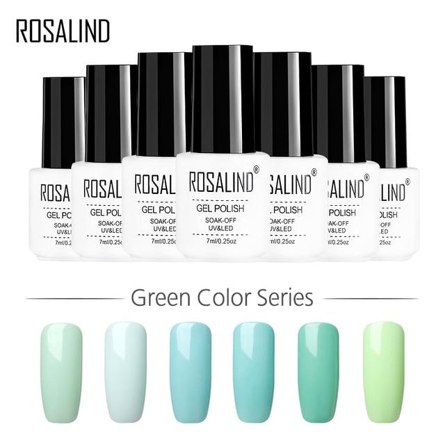 ROSALIND Gel 1S 7ML Green Color Series Gel Nail Polish Gel Lacquer For Nail Extension Nail Art Primer UV Led Varnish Manicure