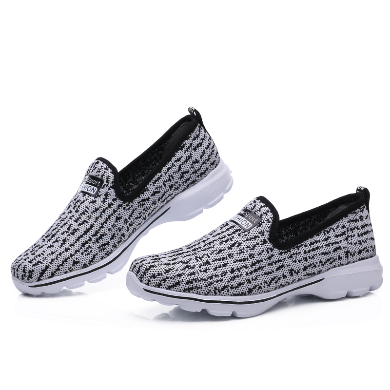 Summer Breathable running sports shoes women/men Mesh Antislip light couples sneakers old men father mother shoes size 35-45 w2