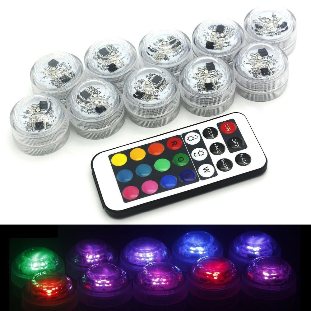 12PCS LED-lampor för fest, nedsänkbara LED-lampor LED-partilampor - Festlig belysning - Foto 1