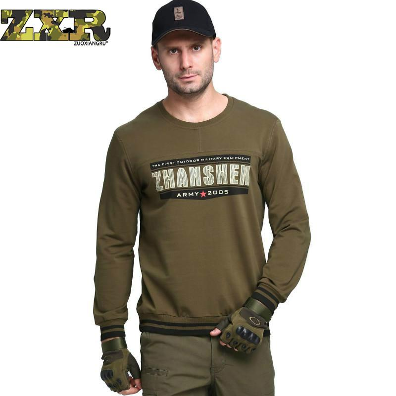 Zuoxiangru Military Tactical Man Men's Clothing Pullover Tracksuit Army Casual Loose Knitted Sweater Male Pull Homme