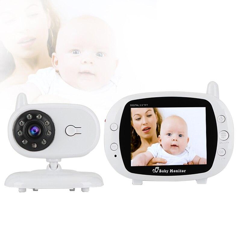 Babykam elettronica baba com monitor della macchina fotografica 3.5 pollici IR visione notturna Citofono Ninna Nanna sensore di Temperatura bateria eletronica fetale