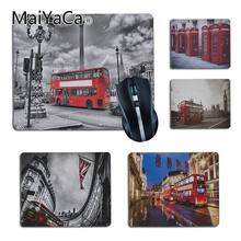 MaiYaCa London Bus England Phone Retro Design Comfort small Mouse Mat Gaming Mouse pad Size for18x20cm 25x29cm Small Mousepad(China)