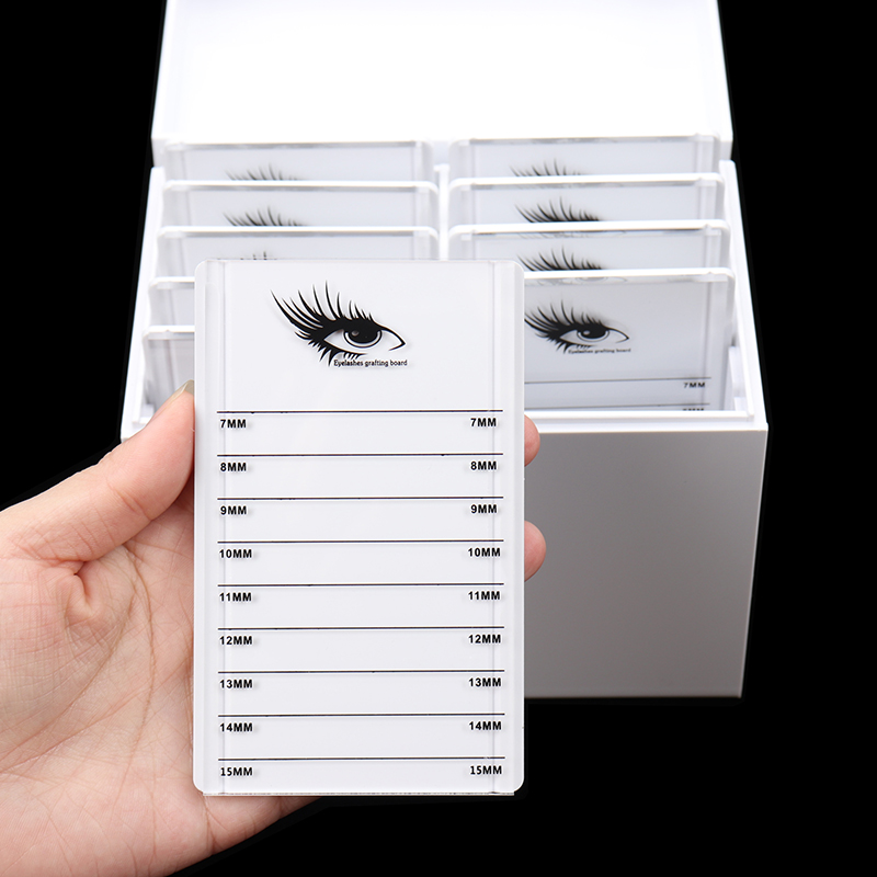 10 Layers Clear Eyelash Storage Box lashes Glue Pallet Holder Eyelashes Extension Grafting False Eyelashes