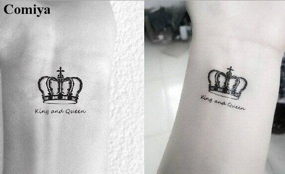 Aliexpress New Concu Temporaire Tatouages Roi Et Queen Couronne Six
