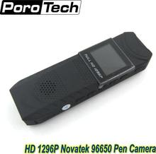 NEW HD 1296P Novatek 96650 Pen Camera DVR Body Pocket Camera Loop Recording free shipping