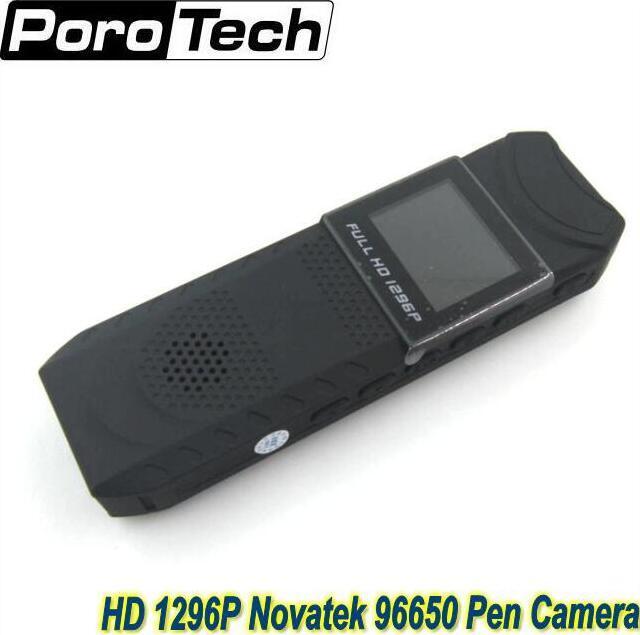 جديد hd 1296 وعاء نوفاتيك 96650 القلم الكاميرا dvr كاميرا الجسم الجيب حلقة تسجيل شحن مجاني