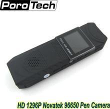 새로운 hd 1296 p novatek 96650 펜 카메라 dvr 바디 포켓 카메라 루프 녹음 무료 배송