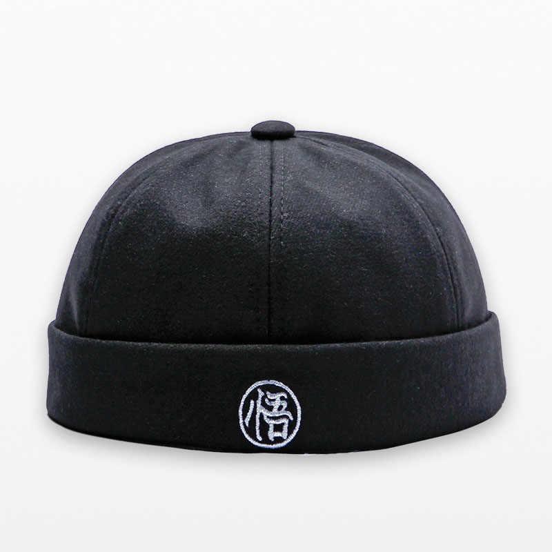 2019 Herfst Winter Hoeden Mannen Vrouwen Mutsen Katoen Retro Skullcap Straat Hiphop Winter Hat Skullcap Brimless Sailor Cap Motorkap