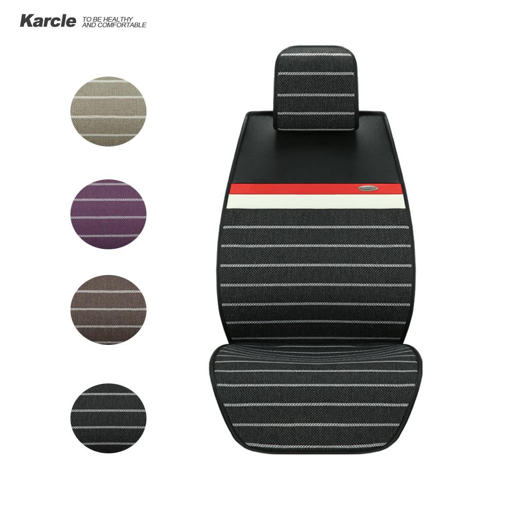 Prix pour Karcle 1 PCS Housses de Siège De Voiture Tissu et En Cuir Universel Respirant Véhicules Coussin Anti-Skid Pad Voiture de coiffure Automobiles Accessoire