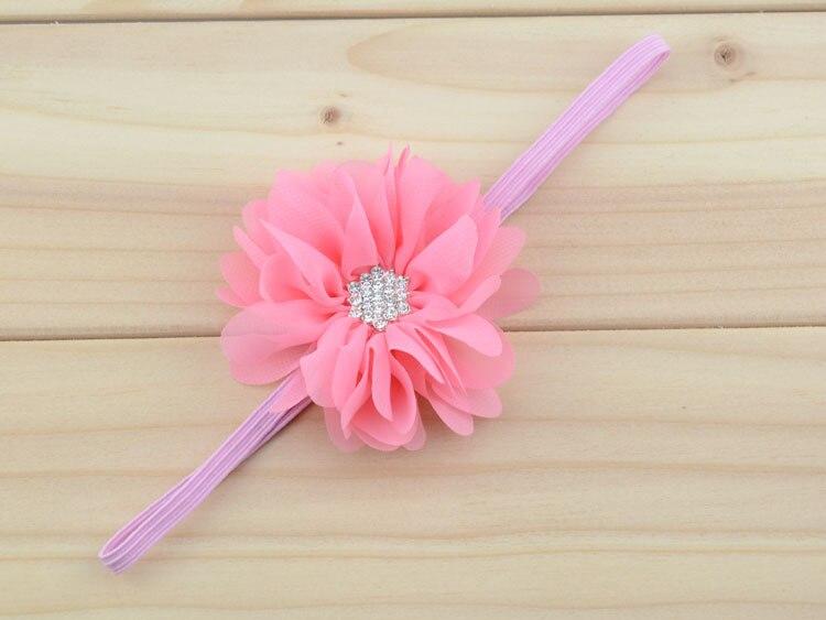 20 шт./партия, шифоновая Цветочная повязка-аксессуар для волос-Тканевый цветок, повязка на голову