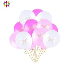 Pack of 15pcs Unicorn Party Decorations Balloon Pink Latex Baloon Birthday Kids Favors