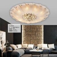 Потолочная лампа для ресторана светодиодный 85 265 в современный Лотос потолочный светильник в форме цветка со стеклянным абажур потолочный