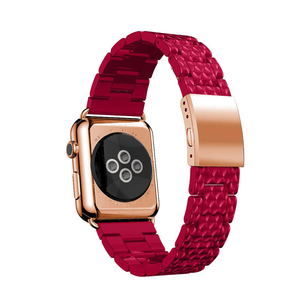 Lerxiuer Luxury strap for Apple watch band iwatch band 44mm 40mm for Apple watch 4 42/38mm Stainless steel bracelet watchband