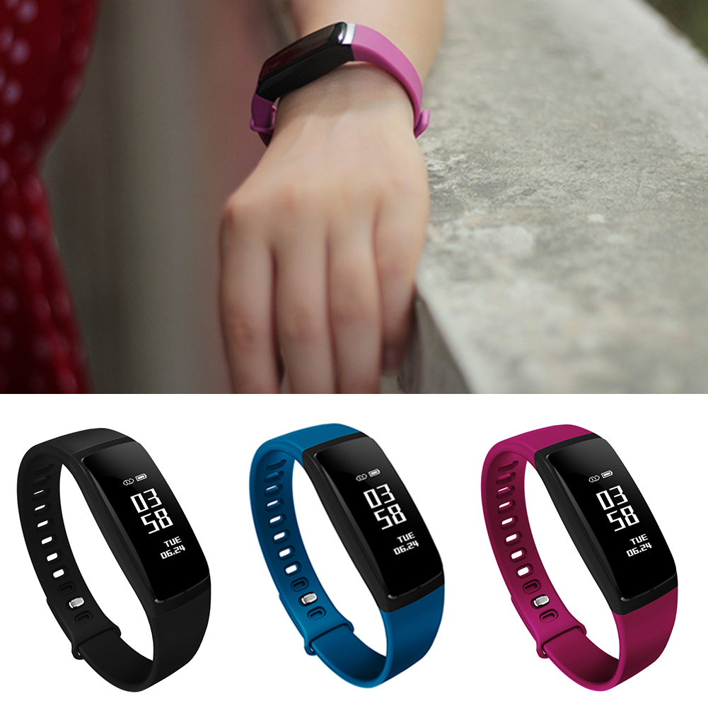 HOT NICE V07S Slim Heart Rate Blood Pressure Monitor Call Reminder Smart Bracelet Watch Slim Heart Rate Blood Pressure Monitor in Smart Wristbands from Consumer Electronics