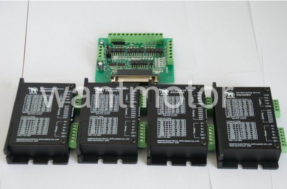 Hot Sell! CNC Router Wantai 4PCS Stepper Motor Driver DQ420MA 1.7A 36V 128Micro Metal Cutting 3D Printer Plasma Engraver hot sell industrial water chiller cnc laser engraver cutting cw5200 pump